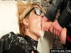 WAM slut getting mouth cummed