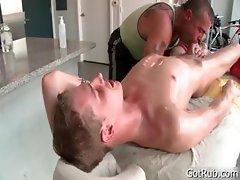 Blond hotty gets intense massage part1