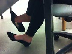 heels dangling