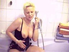 Mature Bath Room Bad Dusche Anal Arsch Fuck Fotze Cuckold