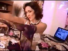 Great Mature Makes Strip And Masturbation On Cam