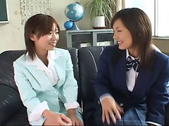 Japanese Lesbians Kissing