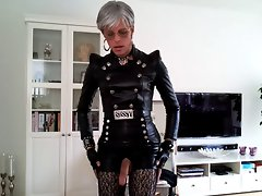 Sissy sexy leather outfit 2