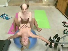 Young Teen Training Dirty Old Man