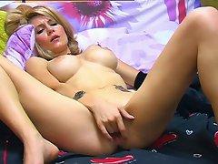 Nice blonde masturbating 2