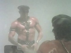 Muscular Leather Bikers