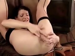 Filthy Mature Slut Squirts In Her Own Face