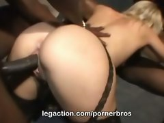 Olivia saint's interracial double penetration