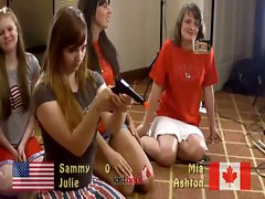 Strip dacunt americans (julie and sammy) vs canadians (ashton and mia)