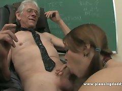 Young schoolgirl fucked by her old teacher