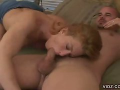 Cum hungry blonde whore gulping for huge cock in hot whacking