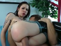 Brunette krysta's pussy and ass pounded hard
