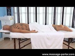 Mae olsen loves to massage the cock