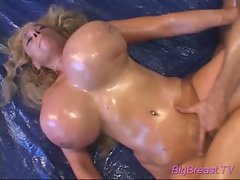 Big breasts babe gets cock sex