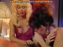 Two classic babes gang up one lucky dude
