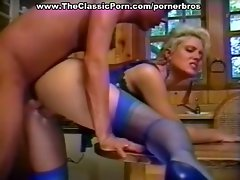 Seducing her man in blue lingerie