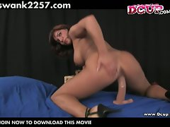 Huge tits brunette charmer orabella enticing in horny solo show