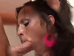 Teen babe chanel white anals after nice sloppy bj