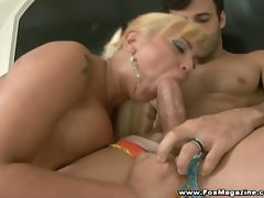 Big boobies blonde whore babalu riding huge cock down her holes