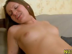 Pretty girlie gets banged hard