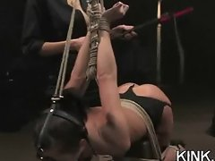 Dirty slave girl squirts and fucked hard