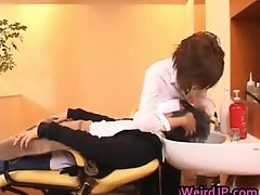 Asian model is a hairdresser in a sexy part4