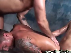 Muscley hot gays anal fuck