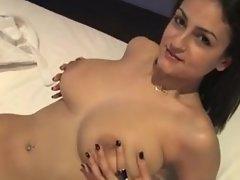 Spanish Sandra with Huge Bouncy Tits