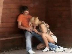 banging at the bus stop