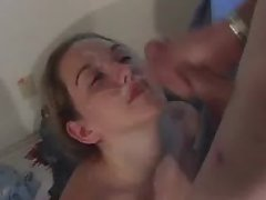 Teen gets facial from boyfriend