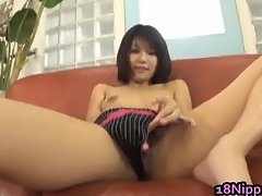 Azumi Haruski Hot Asian model gets cum part3