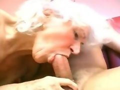 Granny with sucking skills
