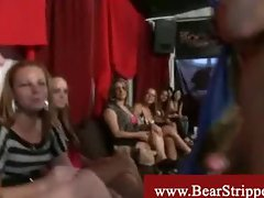 Bear strippers blowed and busted at cfnm party
