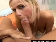 Cute Teen Has Fun Blowing