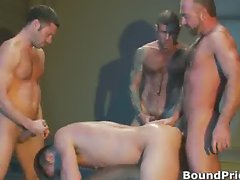 Extreme gay BDSM orgy video part6