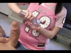 Teen Cutie Gives Cock Massage