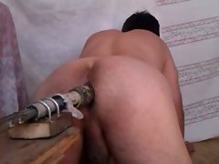 gay dildoing fuckmachine homemade