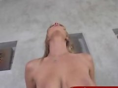 Blonde slut likes some rough banging