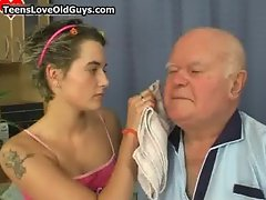 Grandpa gets to have a fun sexy time part3