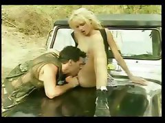 Hot Chick Breaks Down In Her Jeep