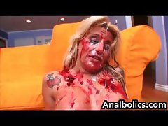 Blond whore Summer Storm gets her anus part6