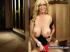 Blonde milf with huge tits loves playing part3
