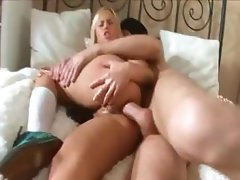 Russian coed butt fucked hard