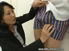 MILF mature asian spoils student