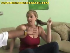 Horny chubby college bimbo swallows an incredibly huge black dick