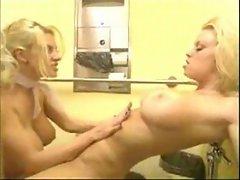 Wild blond slutty lesbians