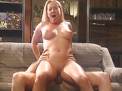 Blond chick humping dick