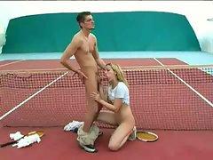 Sex on tennis court
