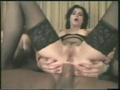Screaming brunette's ass penetrated