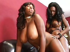 Candice and Nyomi licking their bodys